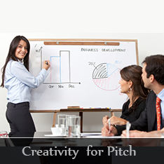 Creativity for pitch